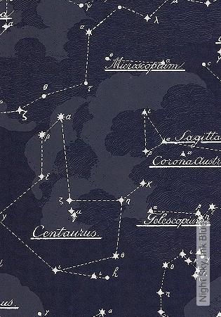 Bild Tapete - Night Sky, Ink Blue