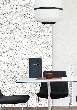 Bild Tapete - Panneau Wildblume, grau