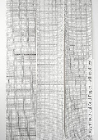 Bild Tapete - Asymmetrical Grid Paper - without text
