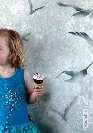 Bild Tapete - Flight, chalk