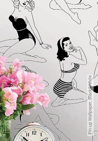 Bild Tapete - Pin-up Wallpaper, Black&White