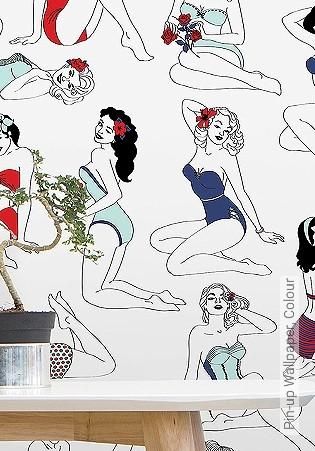 Bild Tapete - Pin-up Wallpaper, Colour