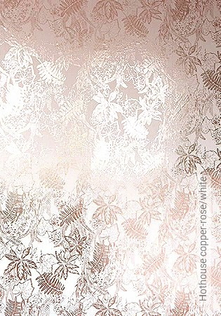Bild Tapete - Hothouse copper-rose/white