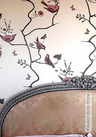 Bild Tapete - Pavilion Birds Stone