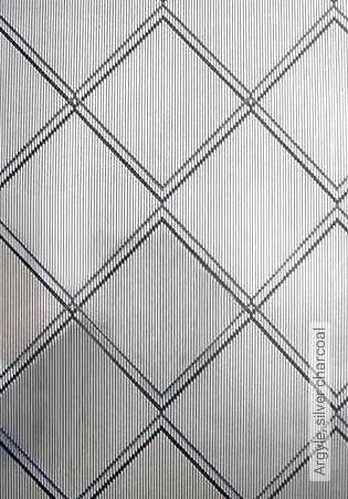 Bild Tapete - Argyle, silver charcoal