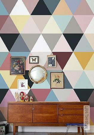 Bild Tapete - Mosaic, soft