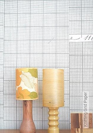 Bild Tapete - Knitting Grid Paper