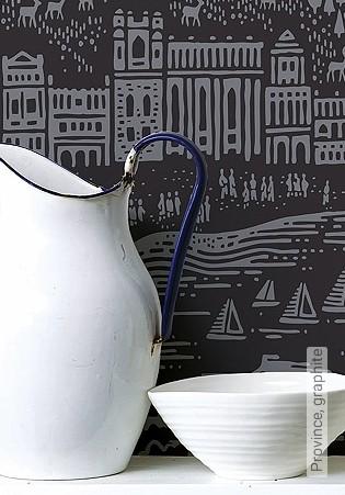 Bild Tapete - Province, graphite