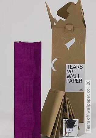 Bild Tapete - Tears off wallpaper, col. 20