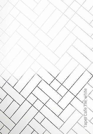 Bild Tapete - Tapet Cafe Tile, white