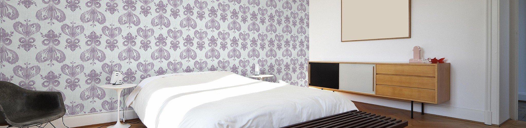 paisley lila tapeten lust auf was neues. Black Bedroom Furniture Sets. Home Design Ideas