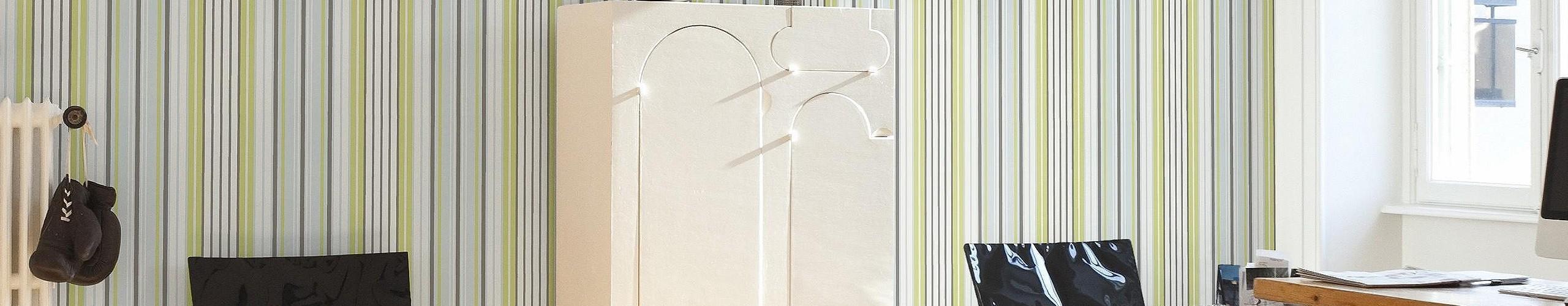 streifen grau gr n tapeten lust auf was neues. Black Bedroom Furniture Sets. Home Design Ideas
