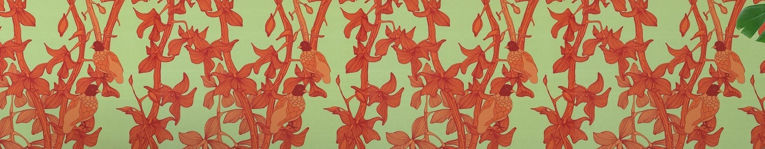Neue tapeten hellgr n orange tapeten lust auf was for Neue tapeten