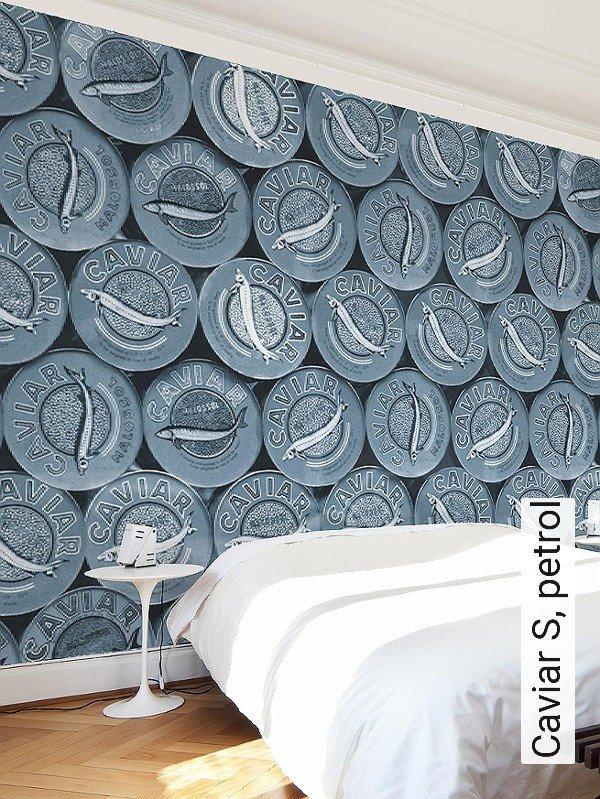 caviar s petrol gegenstnde moderne muster fototapeten blau - Tapeten Muster