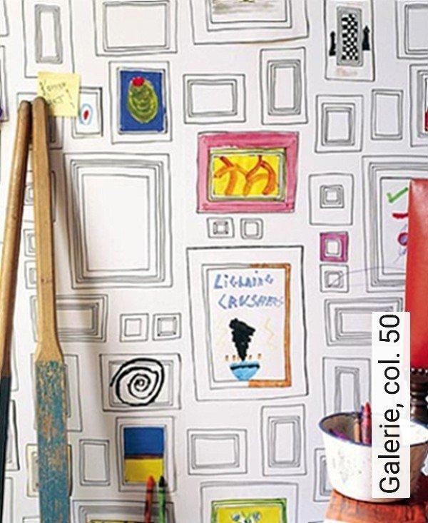 Galerie, Col. 50 Bilderrahmen Moderne Muster KinderTapeten