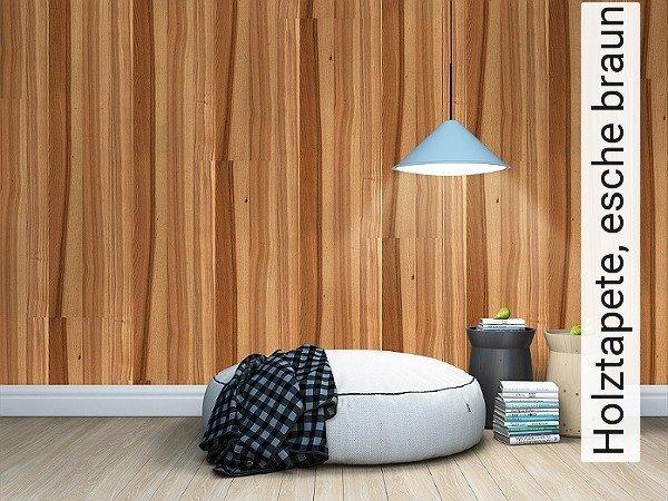 Holztapete, Esche Braun Holz Vertäfelung Moderne Muster Braun