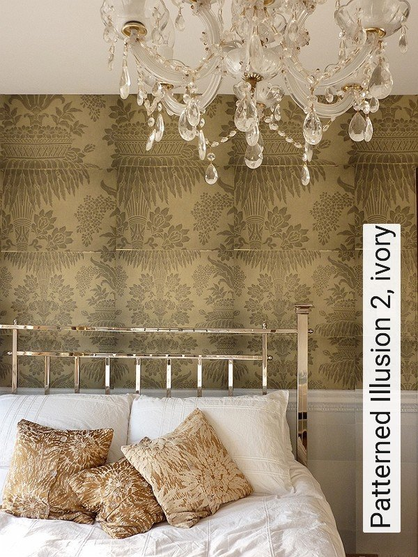 tapete patterned illusion 2 ivory die tapetenagentur. Black Bedroom Furniture Sets. Home Design Ideas