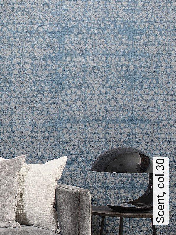scent col30 ornamente stoff klassische muster grau - Tapete Muster Grau