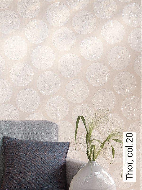 thor col20 punkte moderne muster grau perlmutt - Tapete Muster Grau
