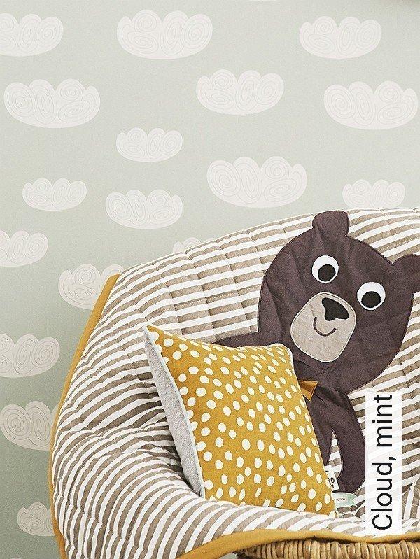 tapete cloud mint die tapetenagentur. Black Bedroom Furniture Sets. Home Design Ideas