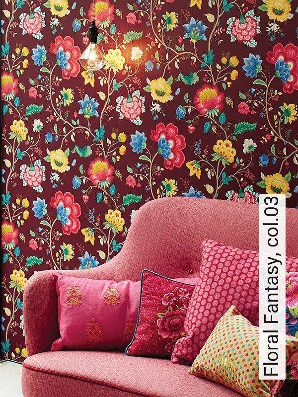 tapete floral fantasy die tapetenagentur. Black Bedroom Furniture Sets. Home Design Ideas