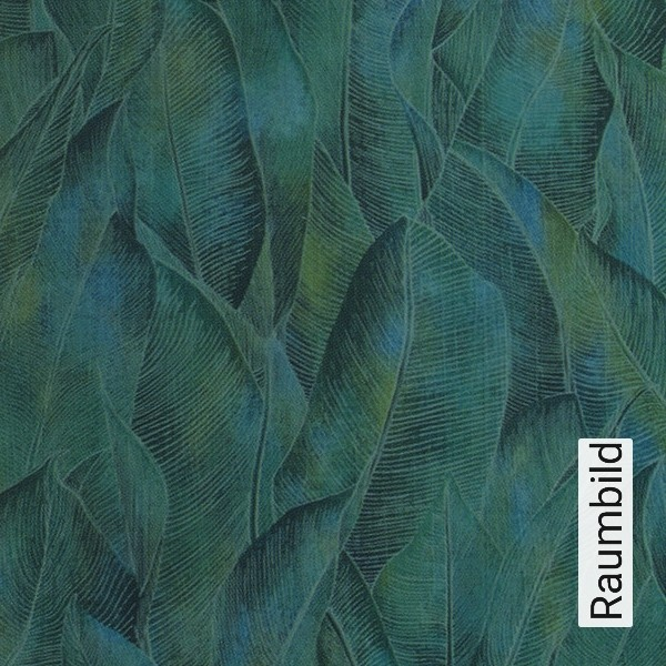 Mustertapete Panama Mit Dschungelmotiv In Zarten Gruntonen
