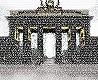 8440 - Brandenburg Gate | Typography paints History| Ingo Krasenbrink Design