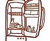 - Meine kleine Wohnküche, Kühlschrank