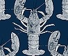 null - Lobster, dark blue