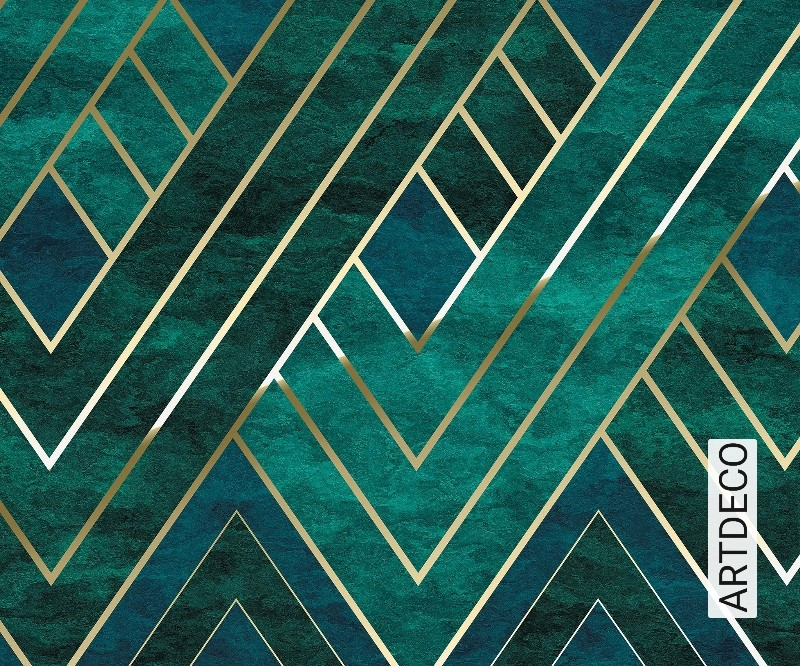 Pattern 305340 Rasch Astoria Deco Blue Gold