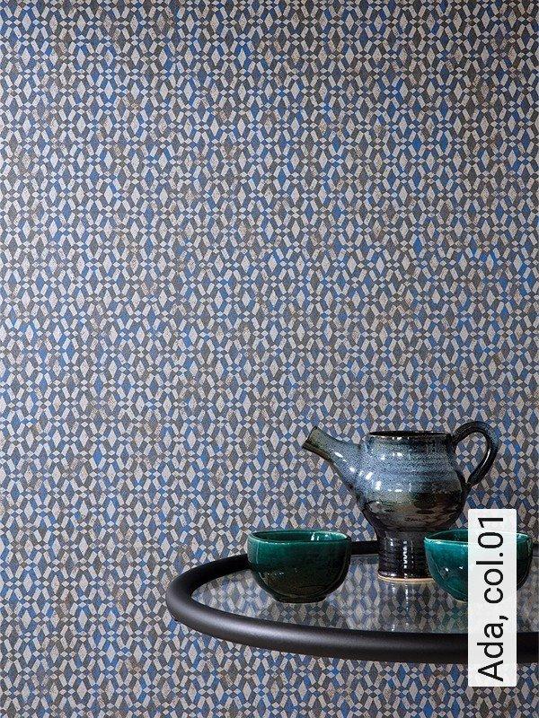 Tapete ada die tapetenagentur - Tapete orientalisch blau ...