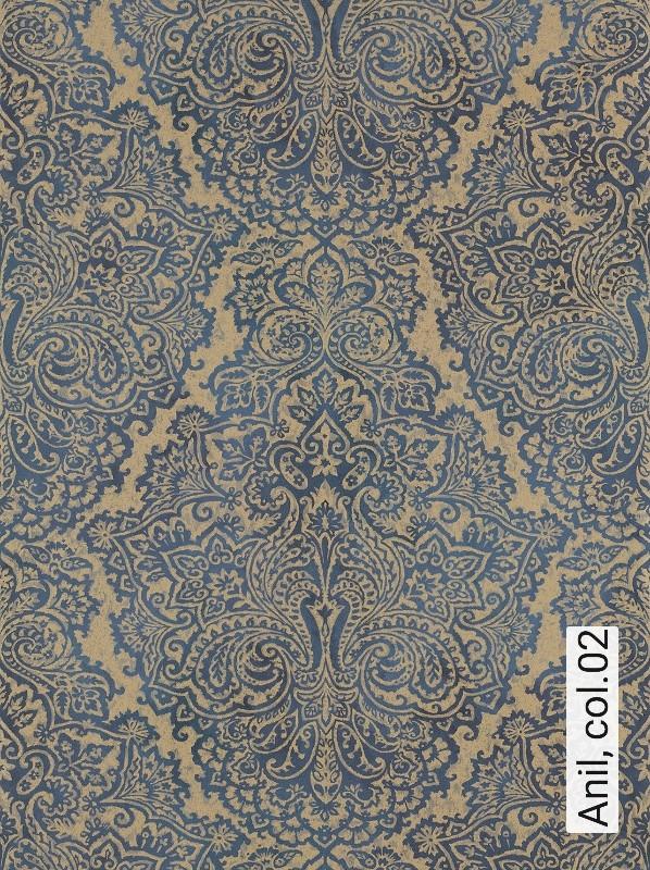 Tapete anil die tapetenagentur - Tapete orientalisch blau ...