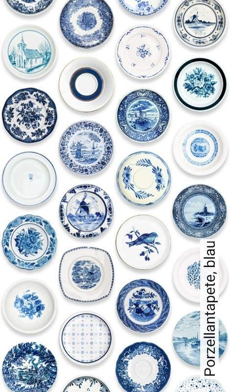Tapete Porzellantapete Blau Die Tapetenagentur