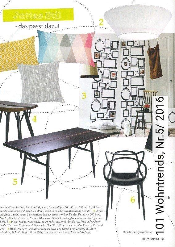 news 101 wohntrends nr 5 2016 die tapetenagentur. Black Bedroom Furniture Sets. Home Design Ideas