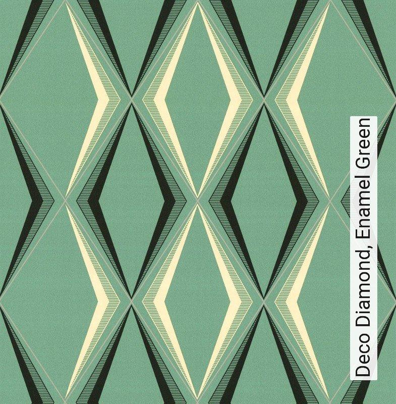 tapete deco diamond enamel green die tapetenagentur. Black Bedroom Furniture Sets. Home Design Ideas
