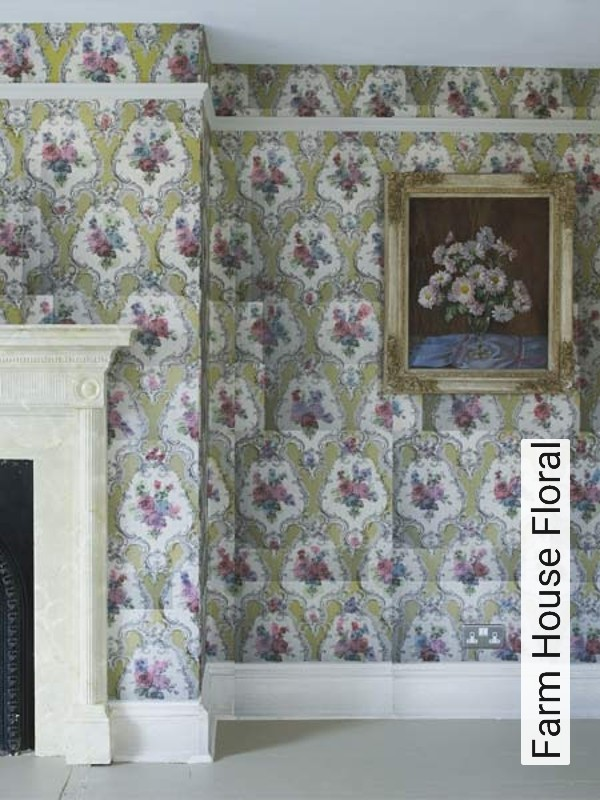 Tapete farm house floral die tapetenagentur for Meine wand tapeten