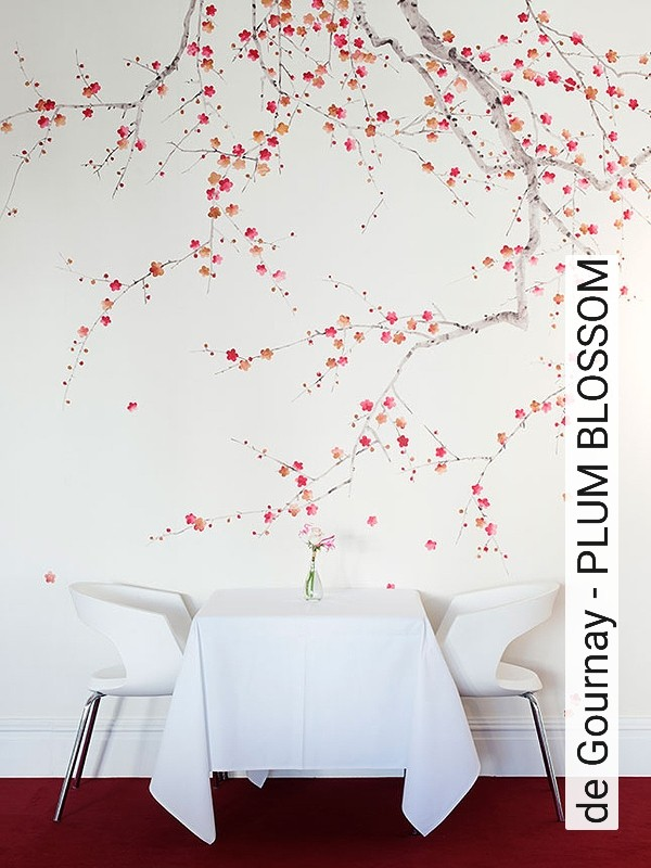 tapete de gournay plum blossom die tapetenagentur. Black Bedroom Furniture Sets. Home Design Ideas
