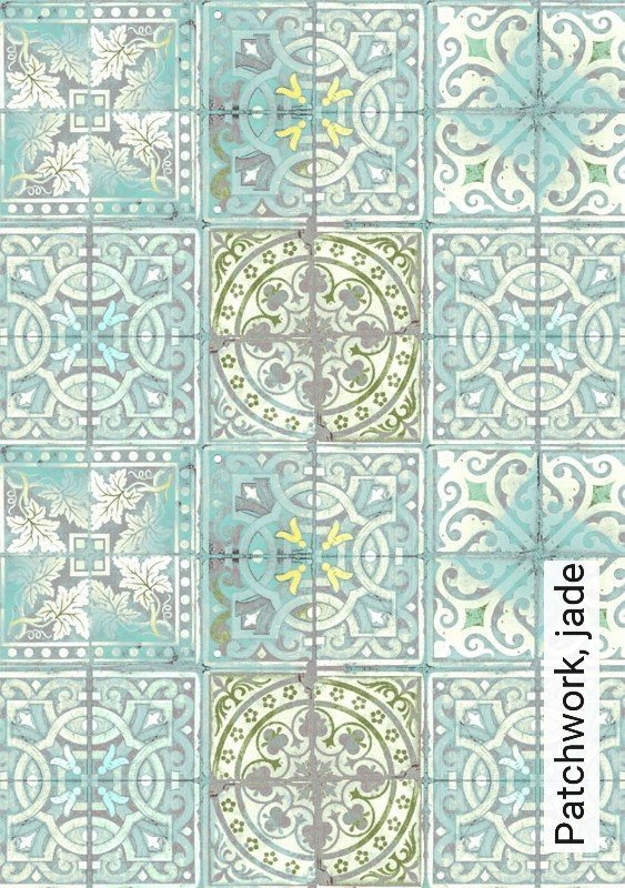 tapete patchwork jade die tapetenagentur. Black Bedroom Furniture Sets. Home Design Ideas