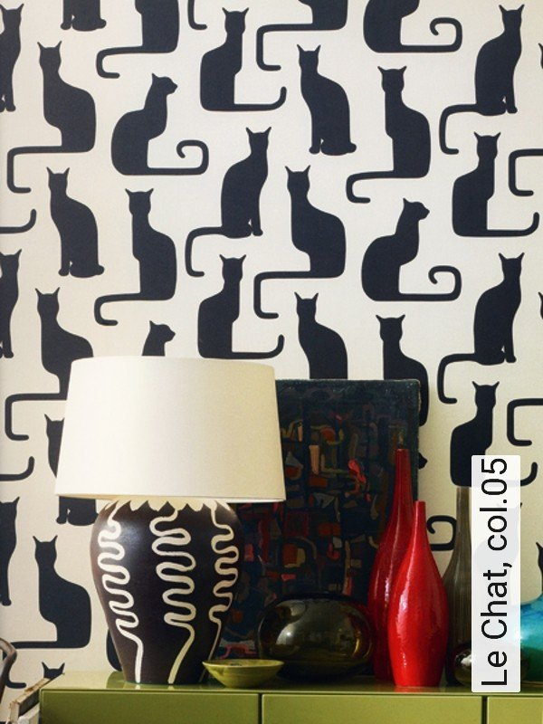 tapete le chat. Black Bedroom Furniture Sets. Home Design Ideas