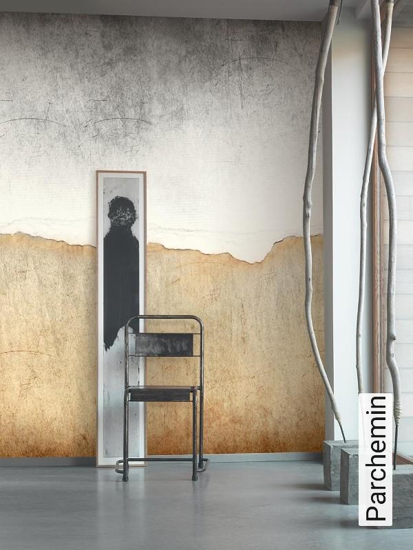 tapete parchemin. Black Bedroom Furniture Sets. Home Design Ideas
